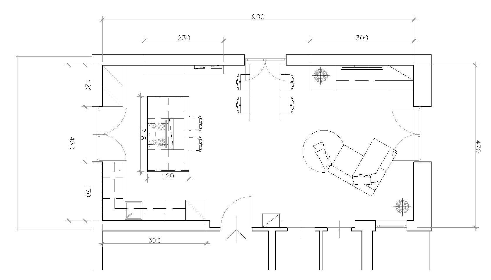 Arredo Soggiorno Con Cucina A Vista ~ Idee per il design ...