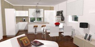 Cucina a vista sul soggiorno: un progetto per sfruttare bene lo spazio