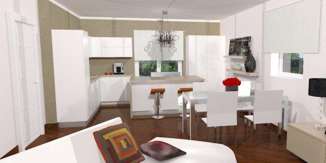 Cucina a vista sul soggiorno: un progetto per sfruttare bene ...