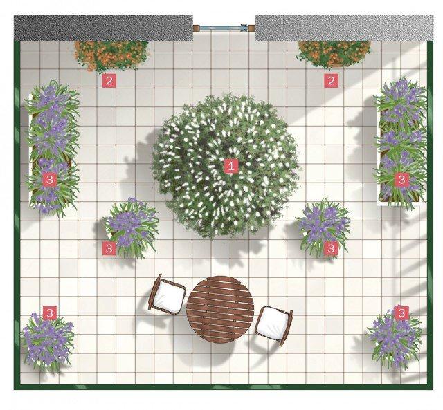 Un progetto semplice per il terrazzo fiorito - Cose di Casa