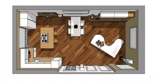 Emejing Cucine A Vista Sul Soggiorno Ideas - Idee Arredamento Casa ...