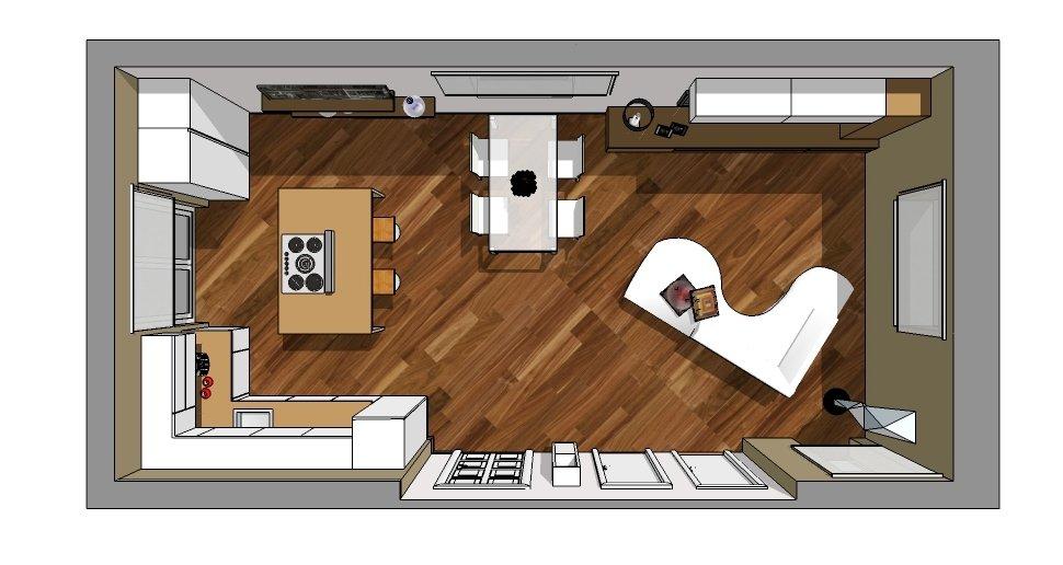 Cucina a vista sul soggiorno: un progetto per sfruttare bene lo ...