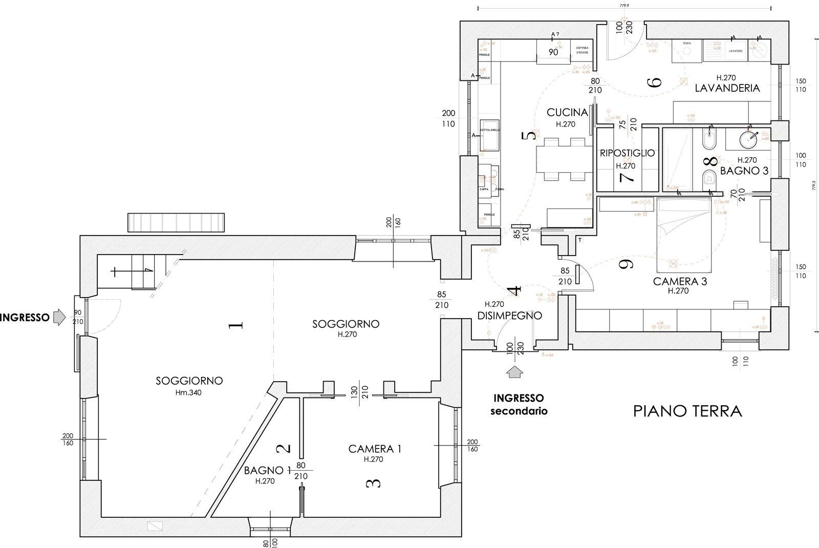 11 pianta piano terra cose di casa for Piano casa piano terra