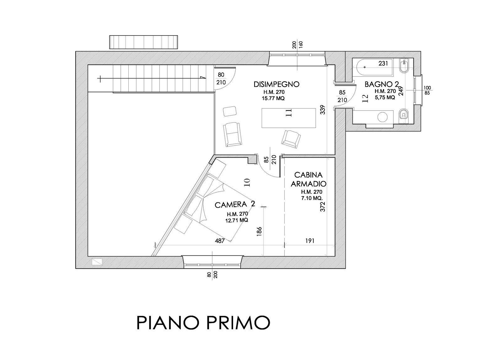 L 39 ex mulino diventa casa cose di casa - Planimetria camera da letto ...