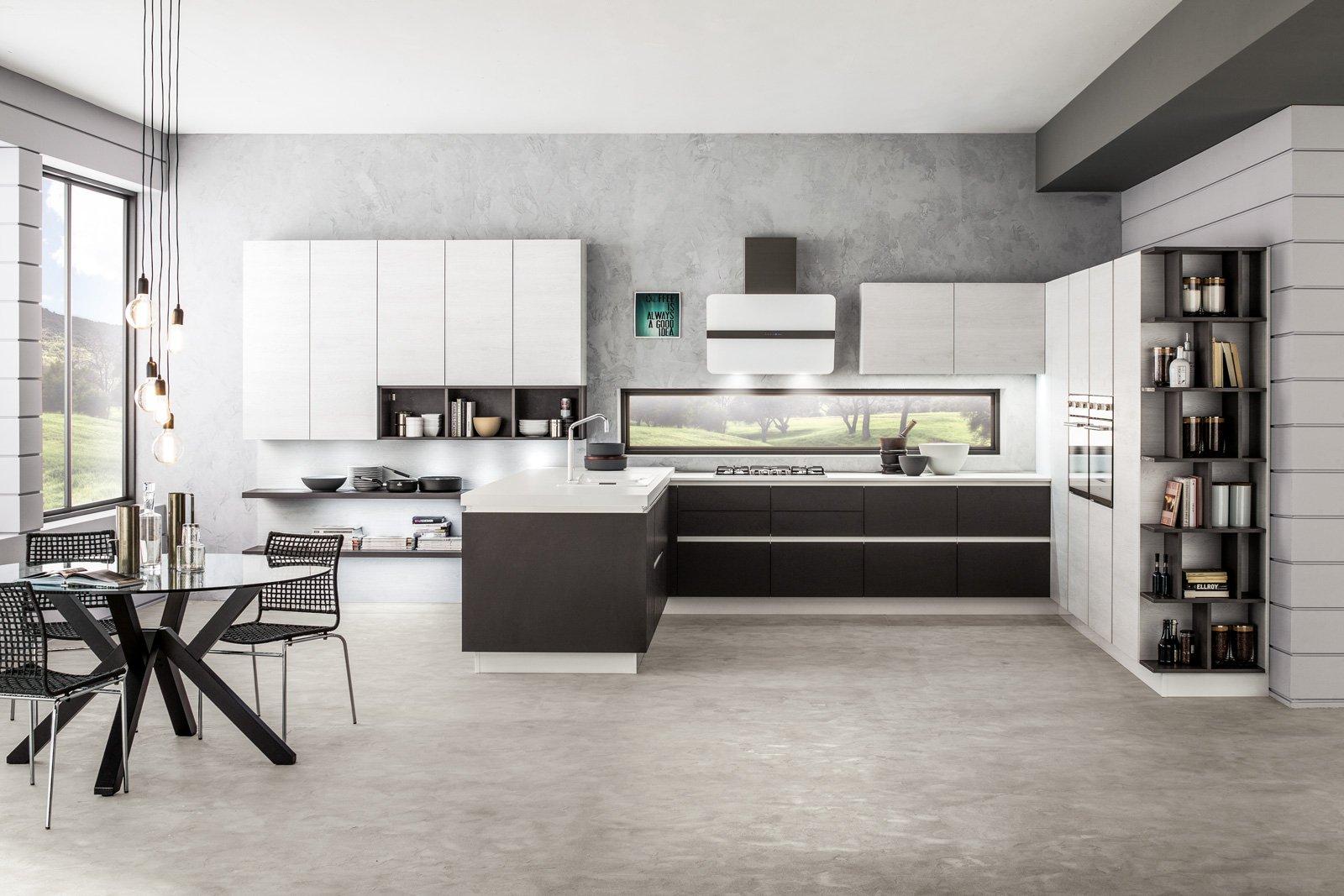 Cucine bicolore l 39 alternanza cromatica fa tendenza cose - Laminato in cucina ...