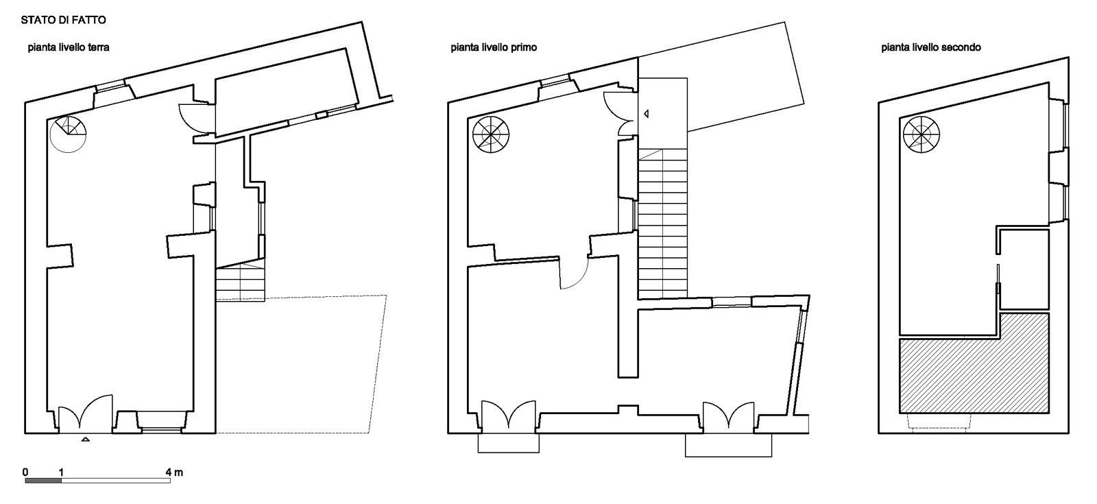 Progetto in pianta e 3d della casa su 3 livelli cose di casa for Pianta esterna