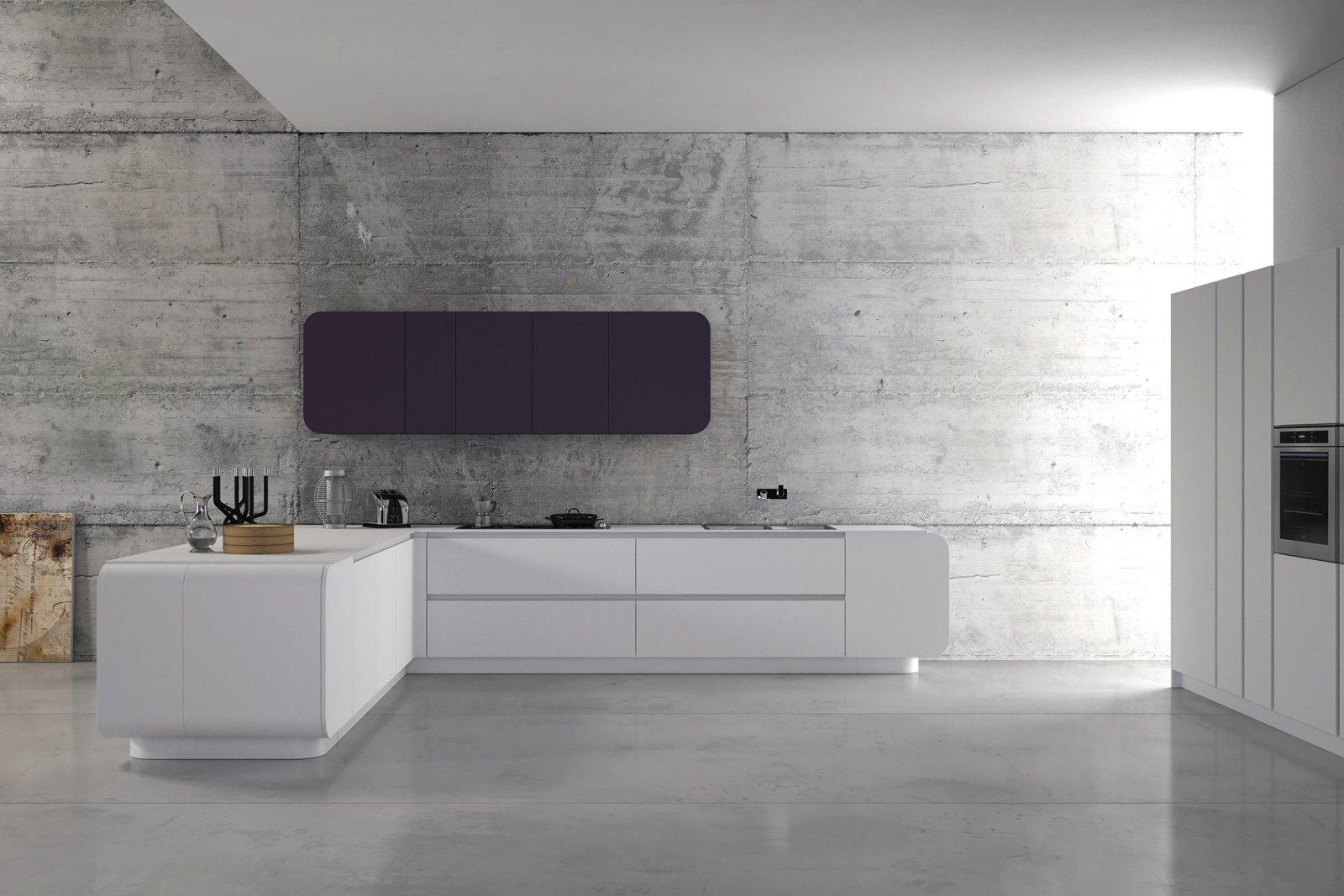 numerouno di doimo cucine caratterizzata da una linea essenziale e pulita che consente di accostarla