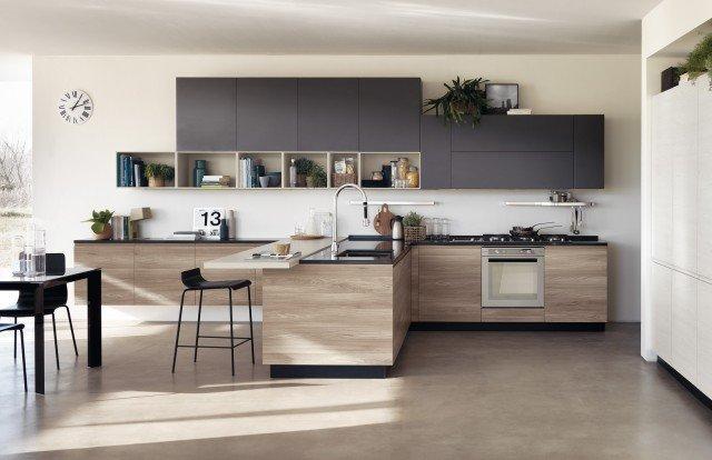 cucine bicolore l'alternanza cromatica fa tendenza  cose di casa, Disegni interni