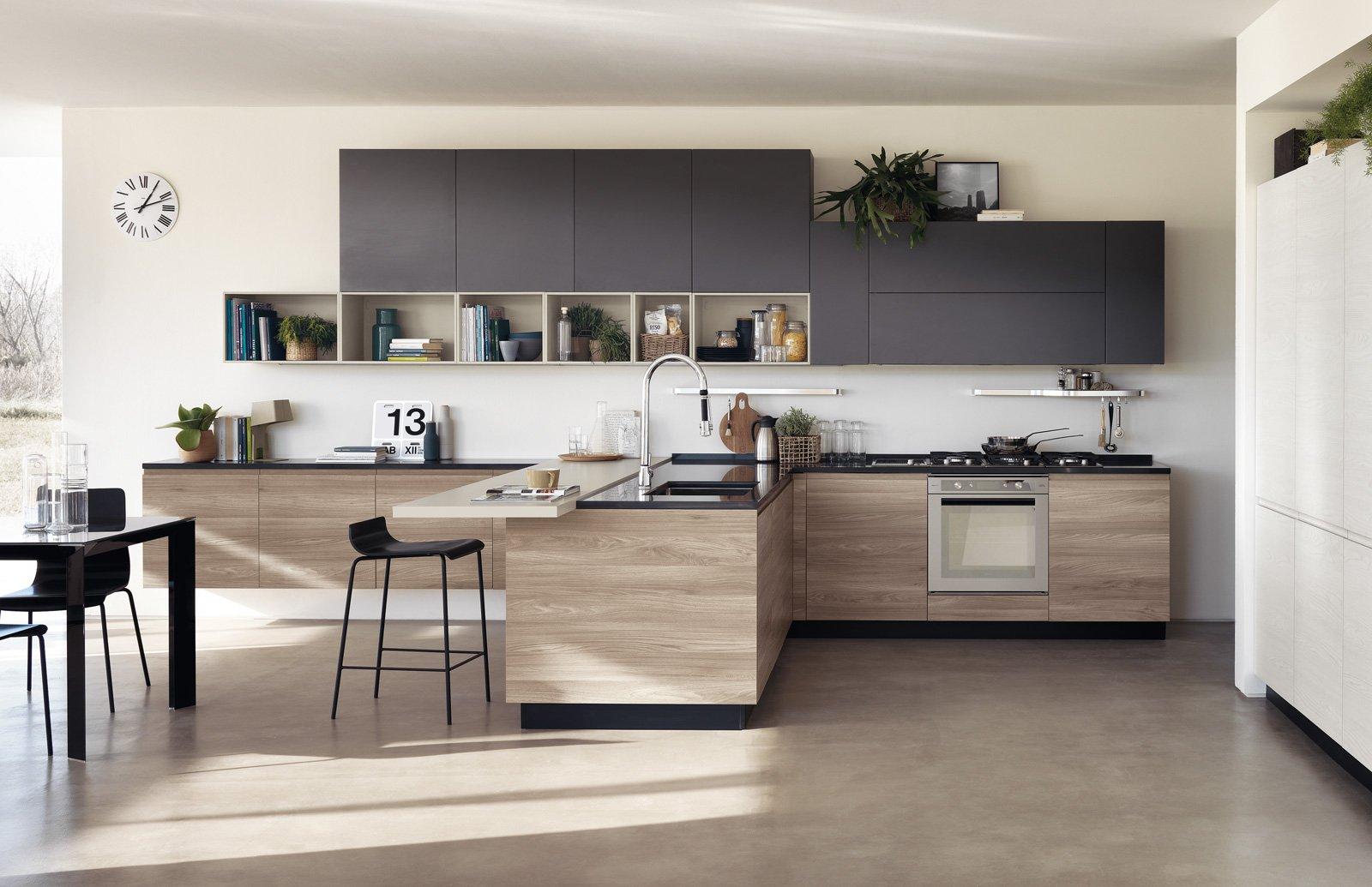 cucine bicolore: l'alternanza cromatica fa tendenza - cose di casa - Cucine Bianche E Grigie Scavolini