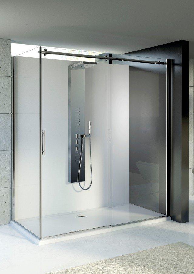 Parete Doccia Senza Telaio: Box doccia in cristallo con porte scorrevoli acqua 5000 by duka. Vq ...