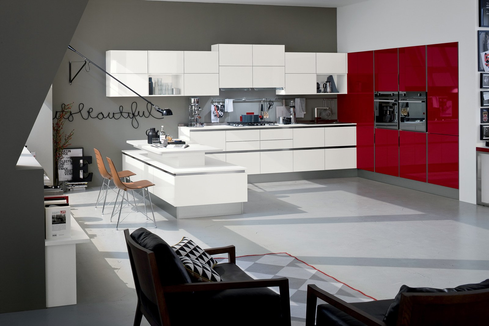 Cucine bicolore l 39 alternanza cromatica fa tendenza cose - Foto di cucine ...