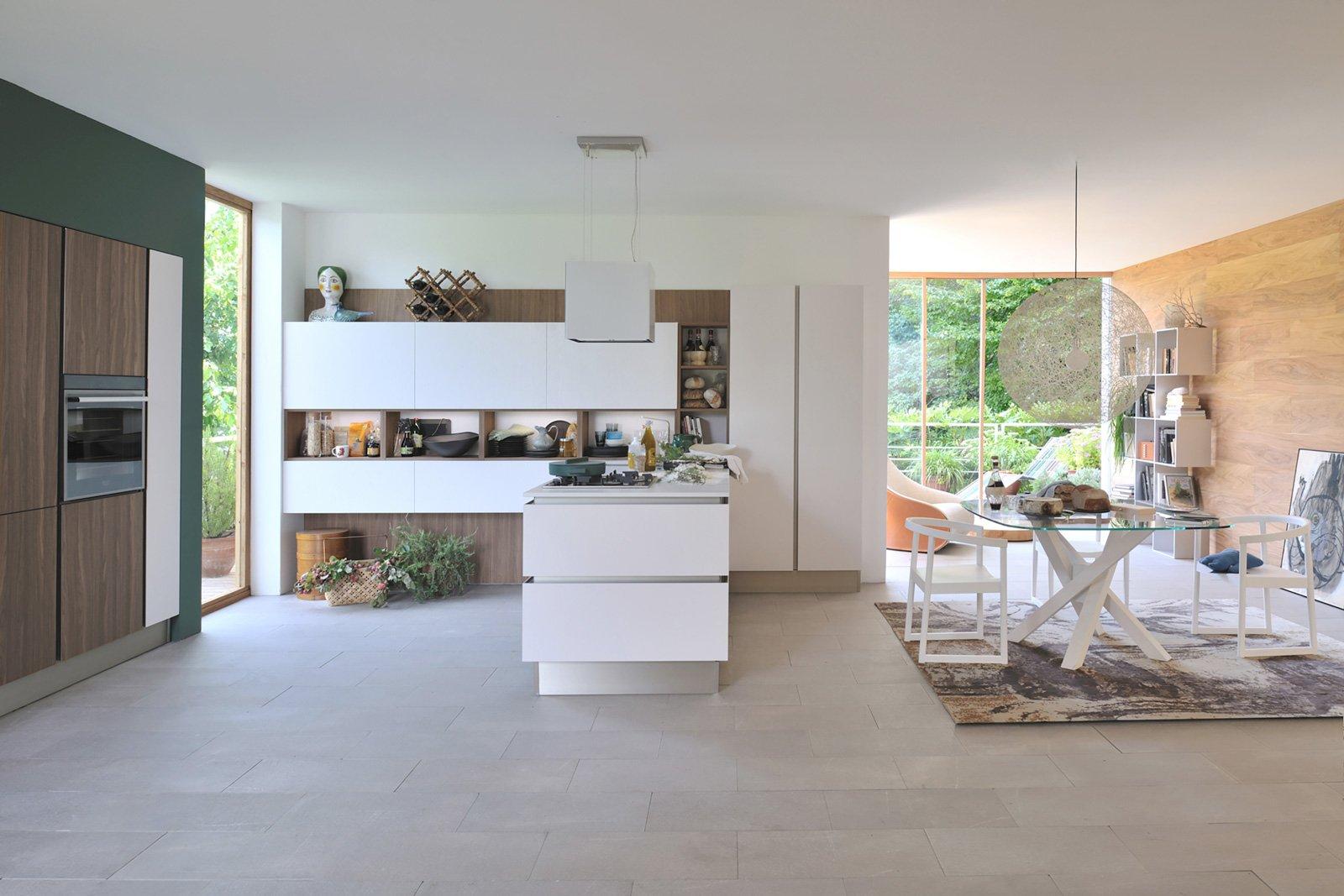 Cucine a vista per il loft nel soggiorno open space for Cucina living