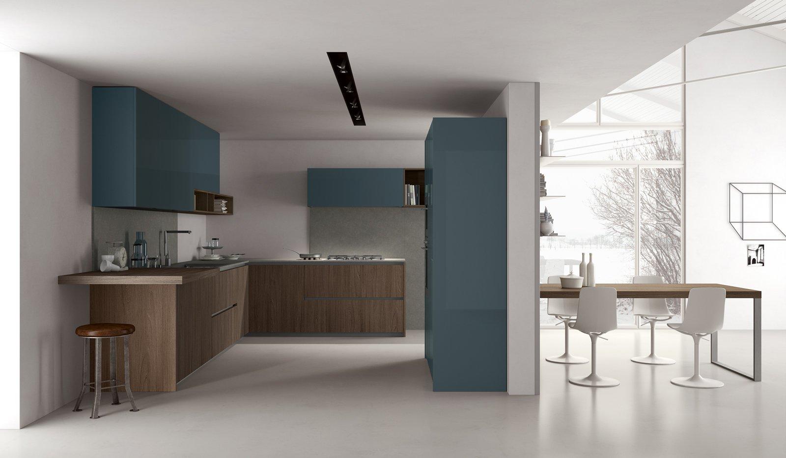 Cucine bicolore l 39 alternanza cromatica fa tendenza cose di casa - Cucina bianca e marrone ...