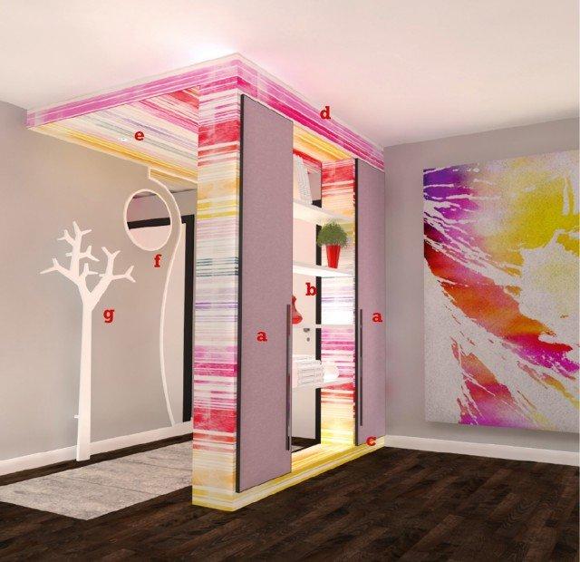 Arredare l 39 ingresso a seconda della forma cose di casa - Mobili pitturati ...