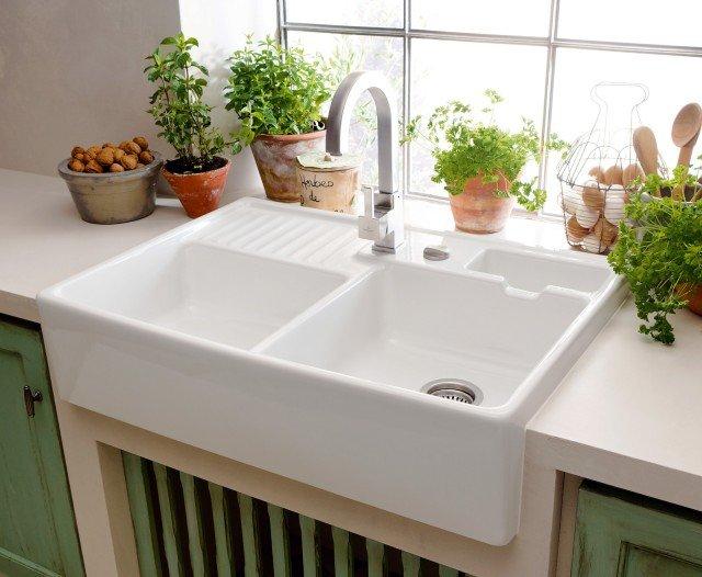 Lavelli e rubinetti zona lavaggio in evoluzione cose di casa Lavelli cucina in ceramica