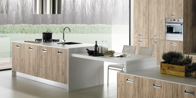 cucine a vista per il loft, nel soggiorno open space - cose di casa - Cucine Loft