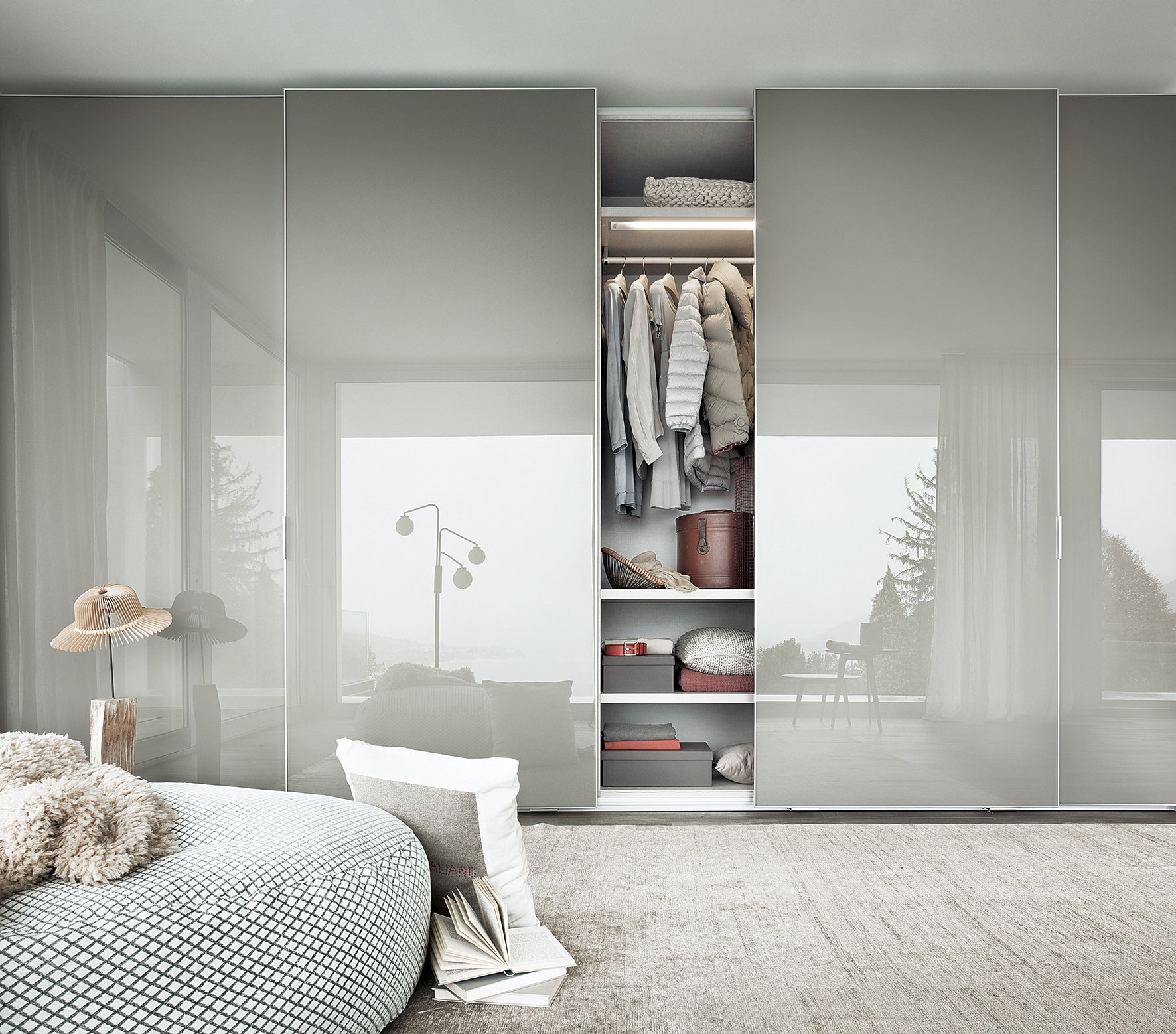 Foto8 lema armadio fina anta scorrevole cose di casa for Chambre contemporaine blanche