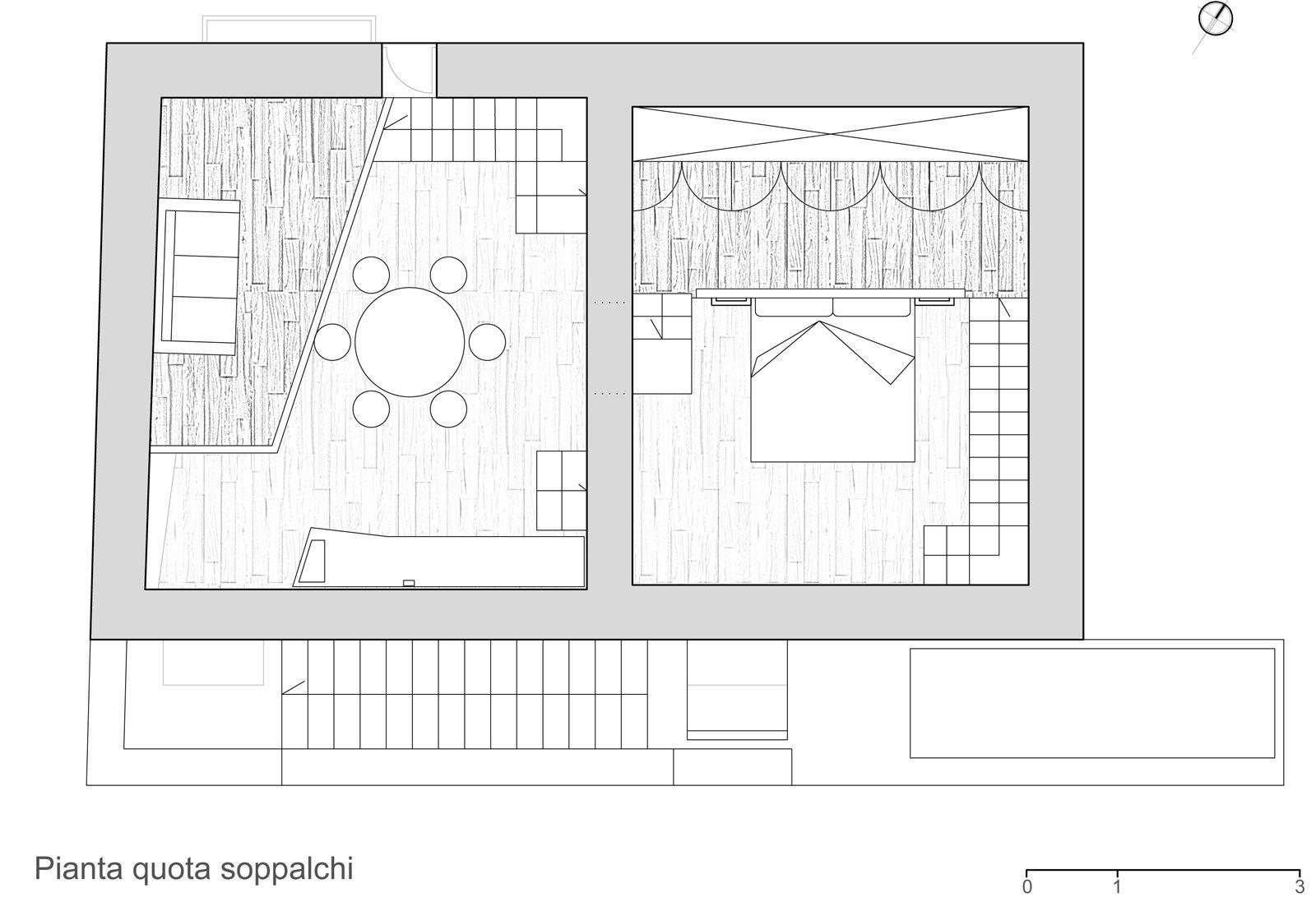 Un mini appartamento di 50 mq che sfrutta l 39 altezza dei for Disegni di piani di appartamento