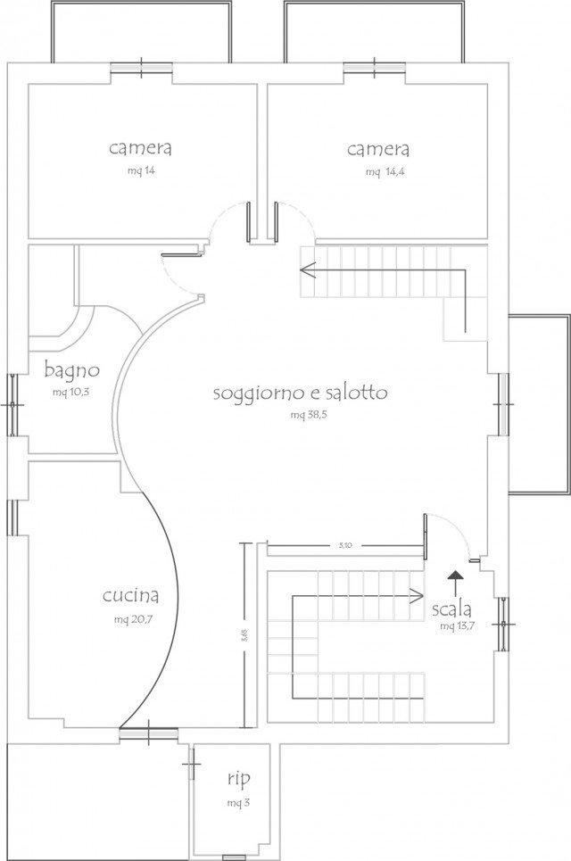 Open space su due livelli sfruttando il sottotetto cose for Piano aperto su due livelli
