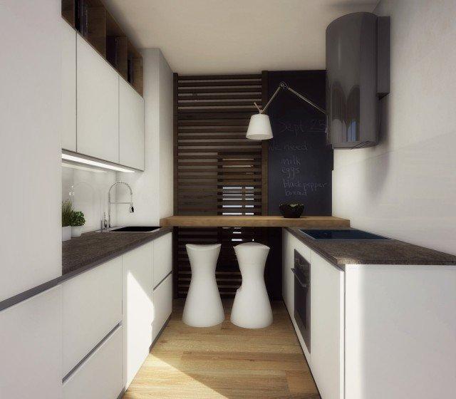 Arredamento cucina piccola un progetto per meno di 6 mq for Arredare casa in 3d gratis
