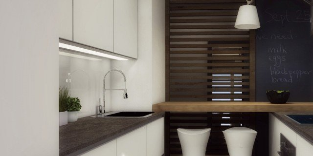 Arredamento cucine piccole un progetto per meno di 6 mq for Progetti di case piccole