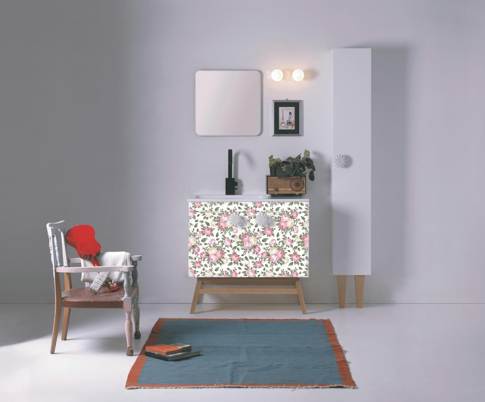 Mobili o console per lavabo classici country o romantici for Maniglie mobili bagno