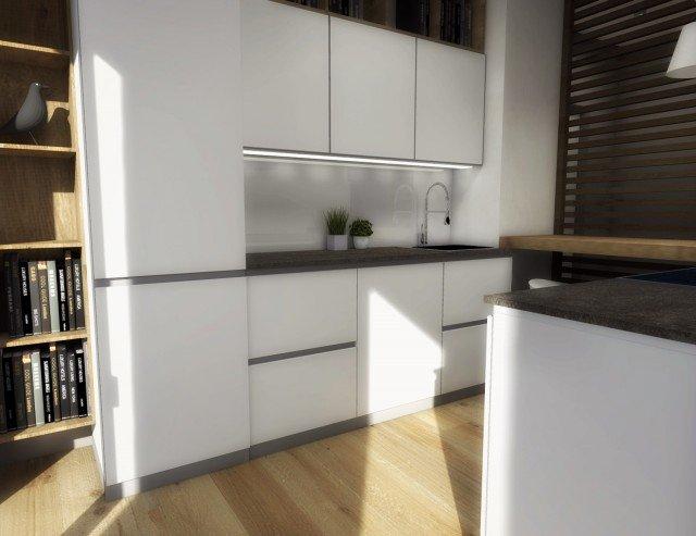 cucina piccola progetto 3D