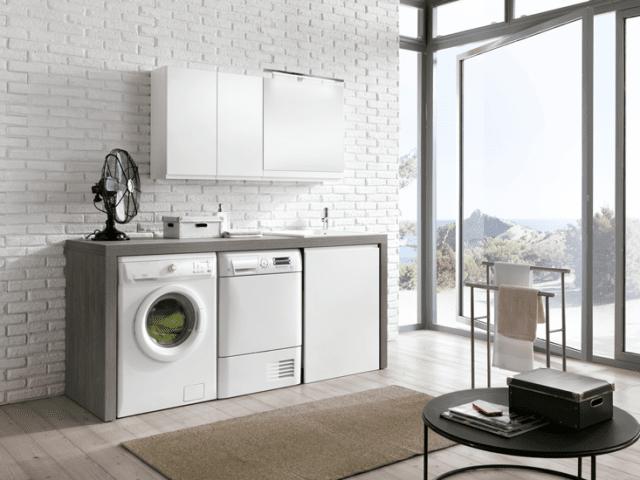 compatta e funzionale per alloggiare anche lavatrice e asciugatrice ...