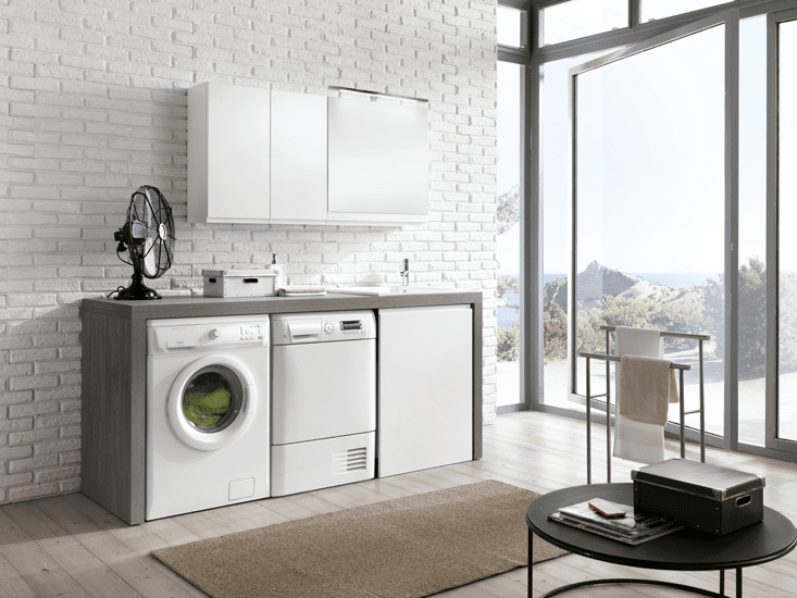 Cersaie 2015 i nuovi mobili per l 39 arredobagno cose di casa - Mobile bagno lavatrice lavabo ...