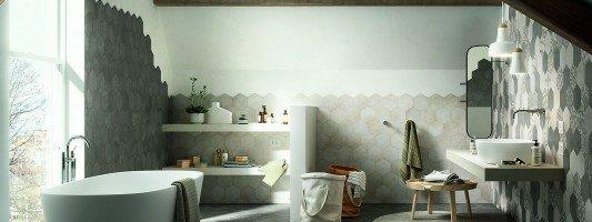 Articoli su piastrelle per bagno cucina e pavimenti for Composizione piastrelle bagno