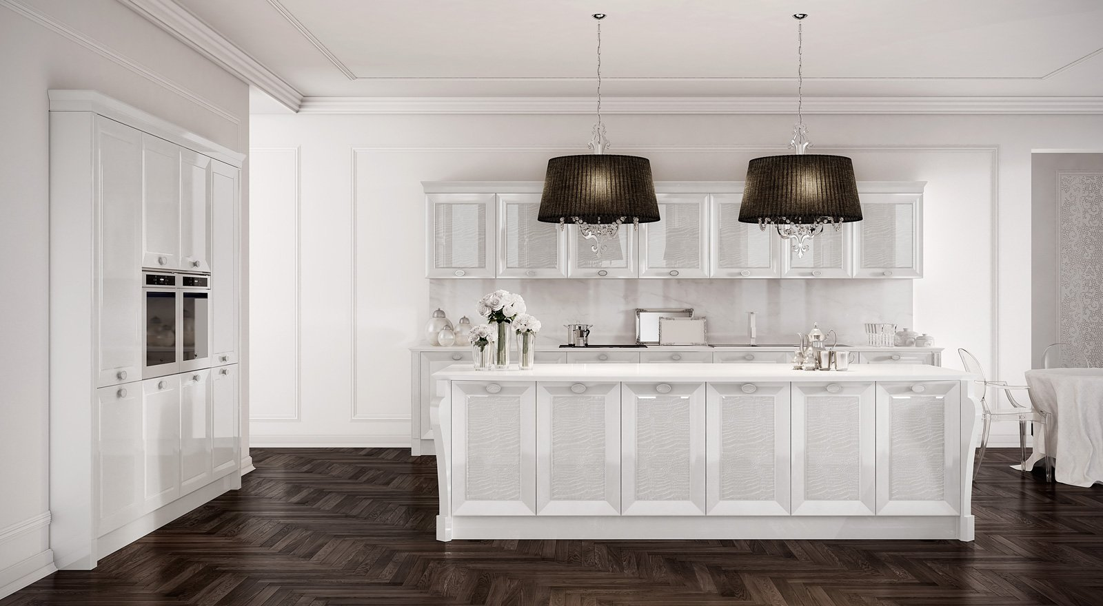 Tanto bianco e la cucina raddoppia visivamente cose di casa - Tavolo snack mondo convenienza ...
