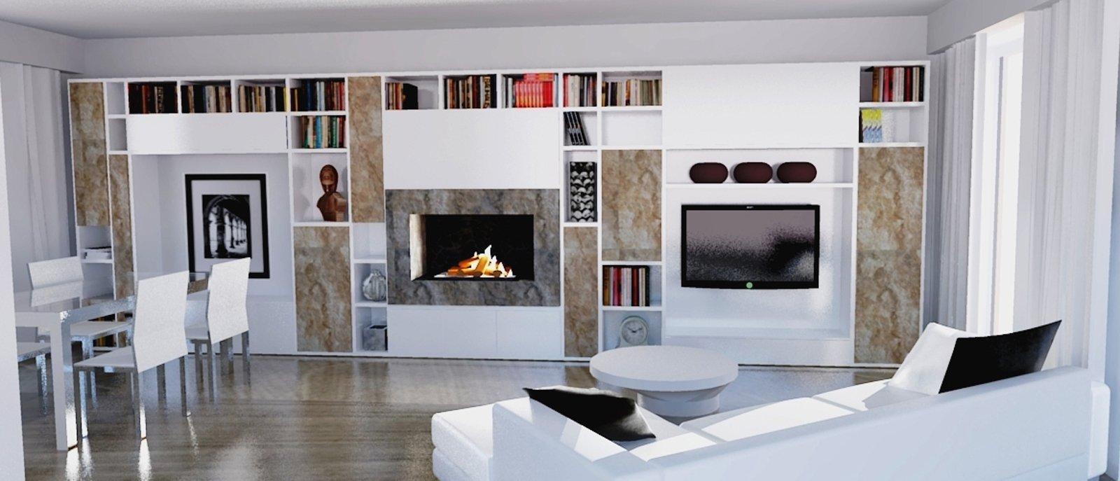 Parete attrezzata per il living cose di casa for Salotto con libreria
