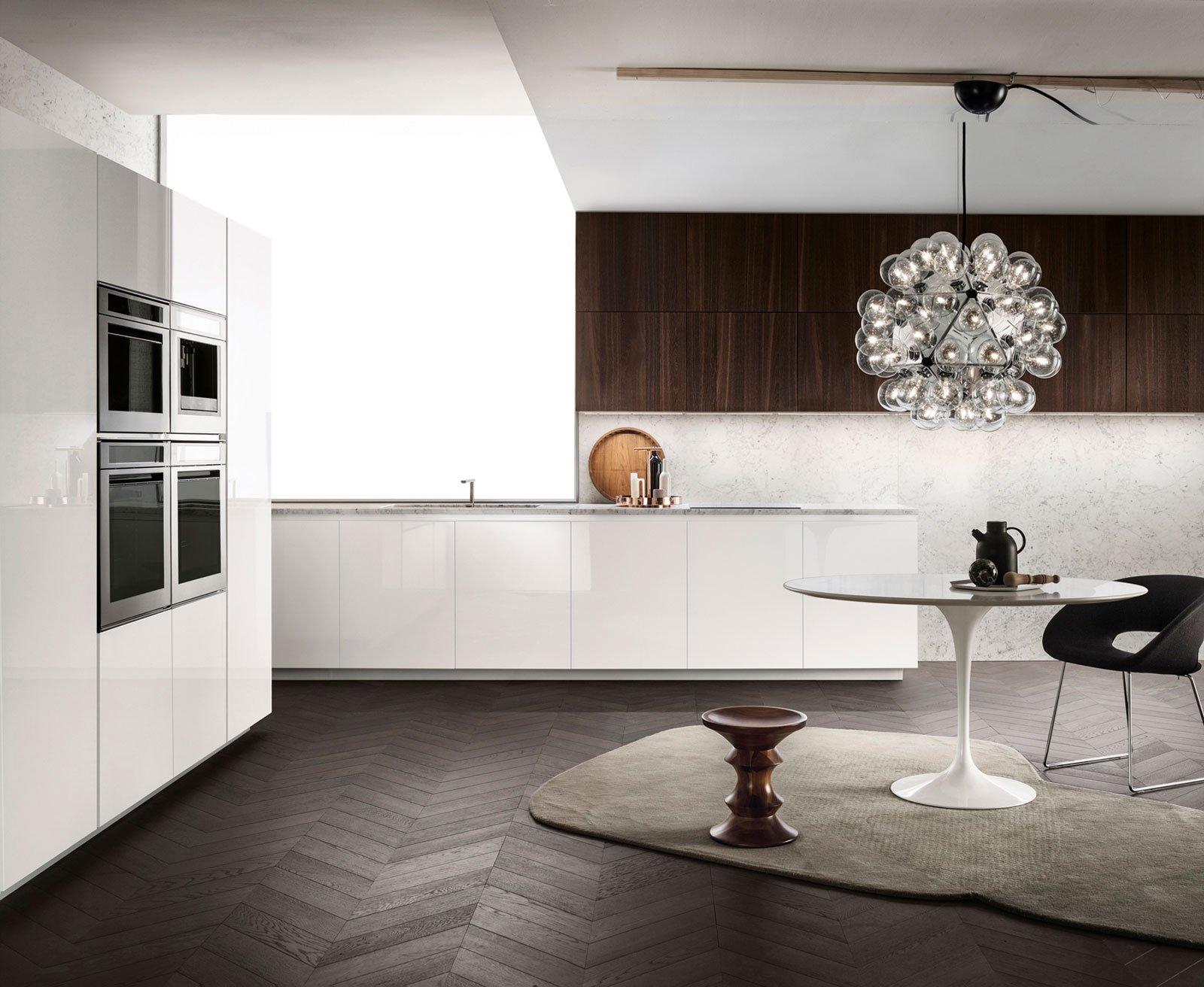 La Cucina One Di Ernestomeda Presenta L'abbinamento Fra Marmo Di  #90603B 1600 1312 Foto Di Cucine Giocattolo