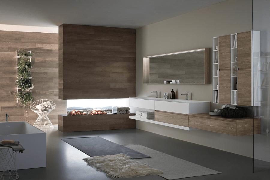 Mobile Monolite di Antonio Lupi con lavabo nel nuovo materiale Flumood ...
