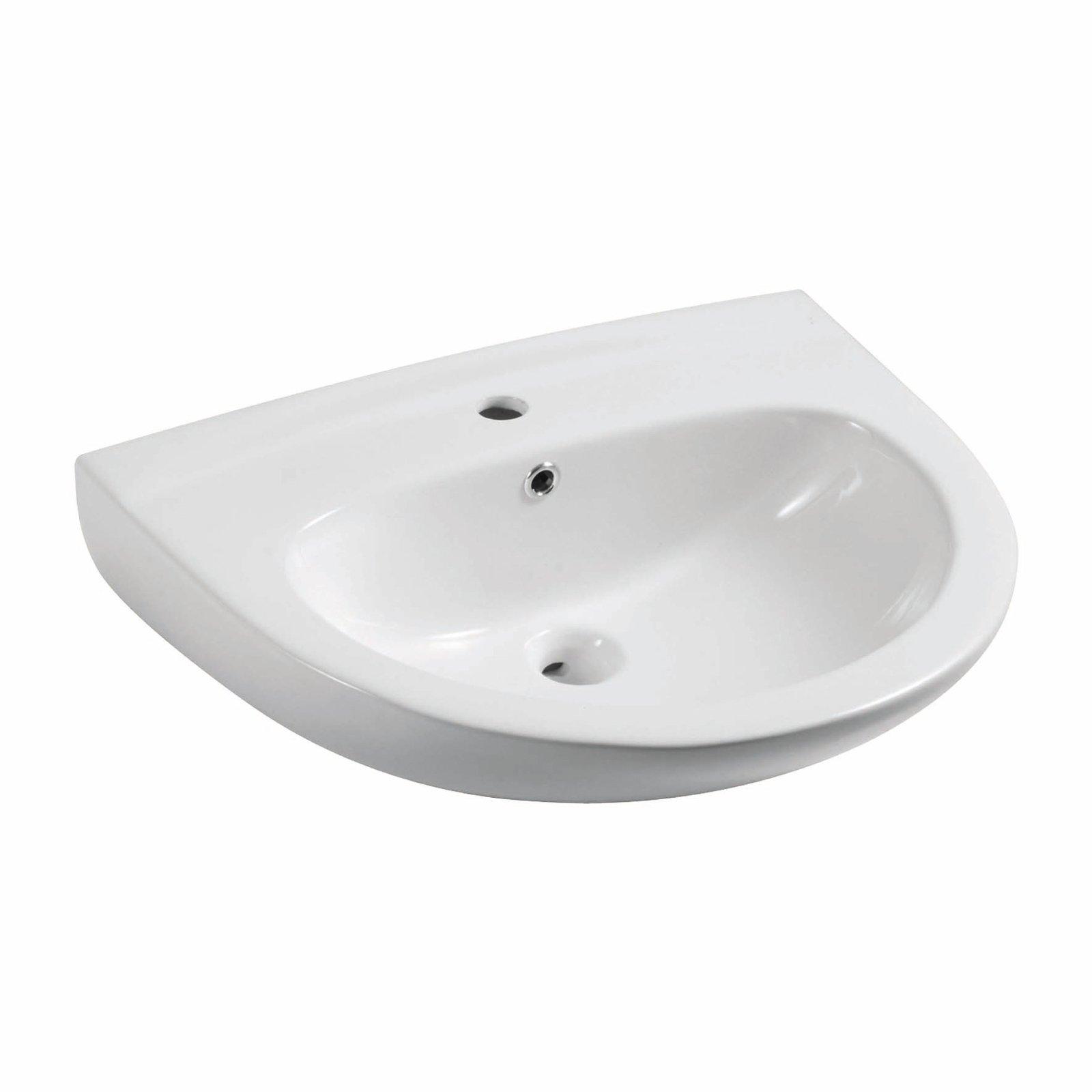 forma semicircolare il lavabo monoforo Sensea Athica di Leroy Merlin ...