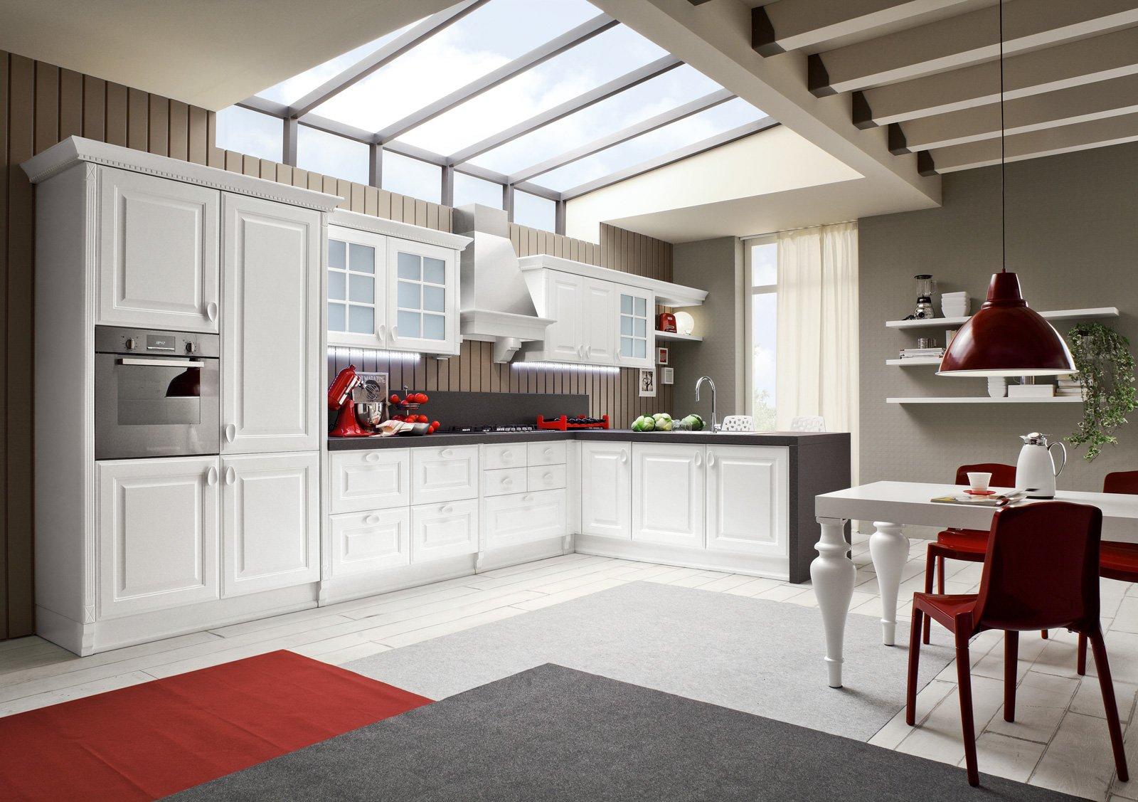 Amato Tanto bianco e la cucina raddoppia visivamente - Cose di Casa XX39