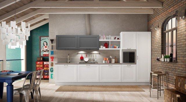 Cucine tutto su una parete o quasi cose di casa - Prezzi cucine berloni ...