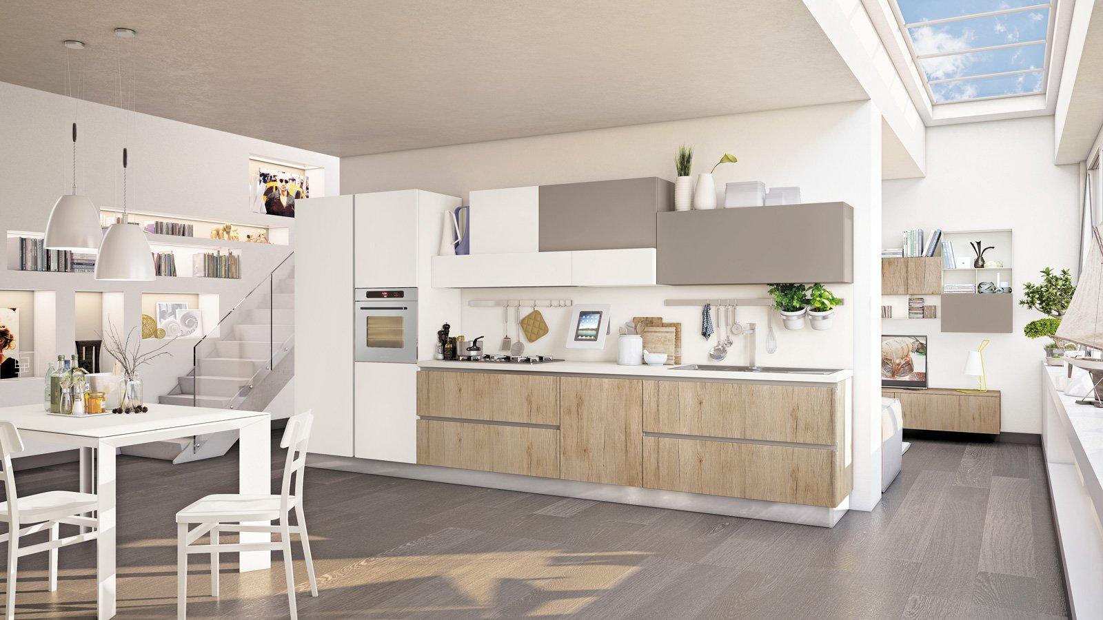 Cucine tutto su una parete o quasi cose di casa - Parete attrezzata per cucina ...
