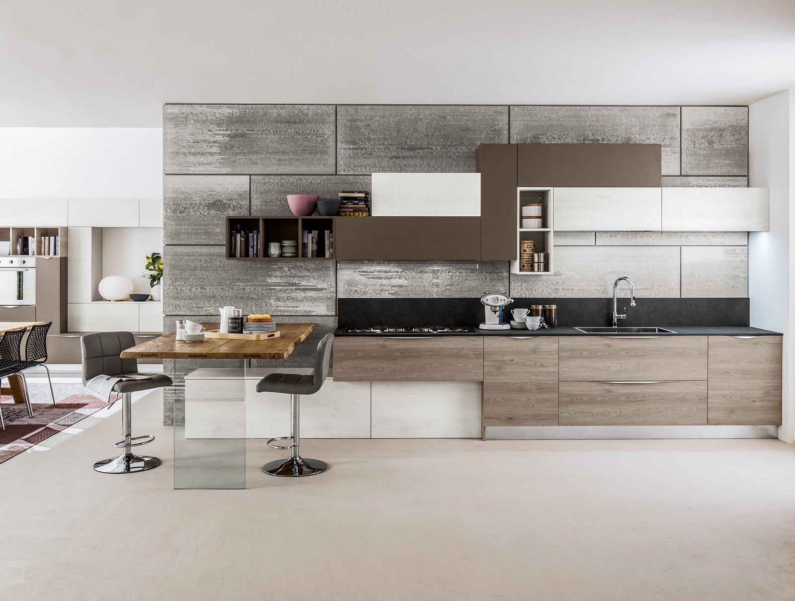 cucine: tutto su una parete (o quasi) - cose di casa - Arrex Cucine Moderne