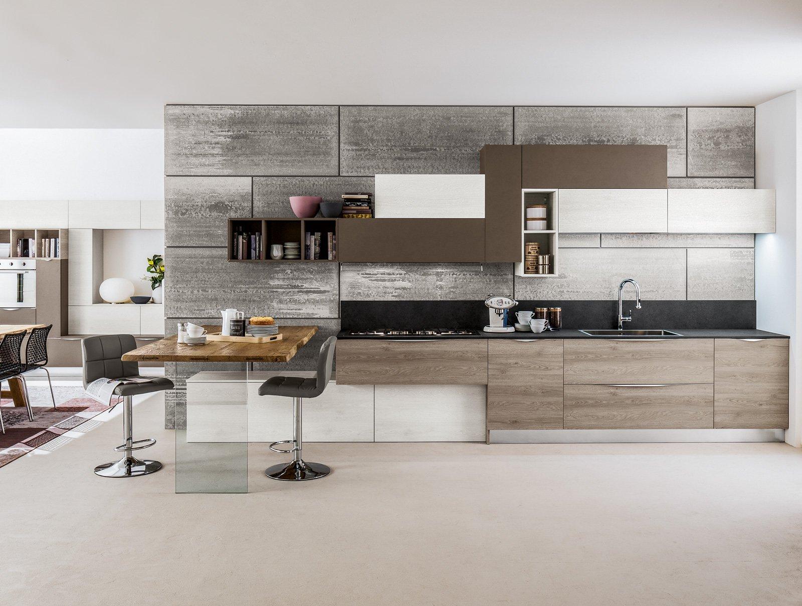 Cucine tutto su una parete o quasi cose di casa - Profondita pensili cucina ...