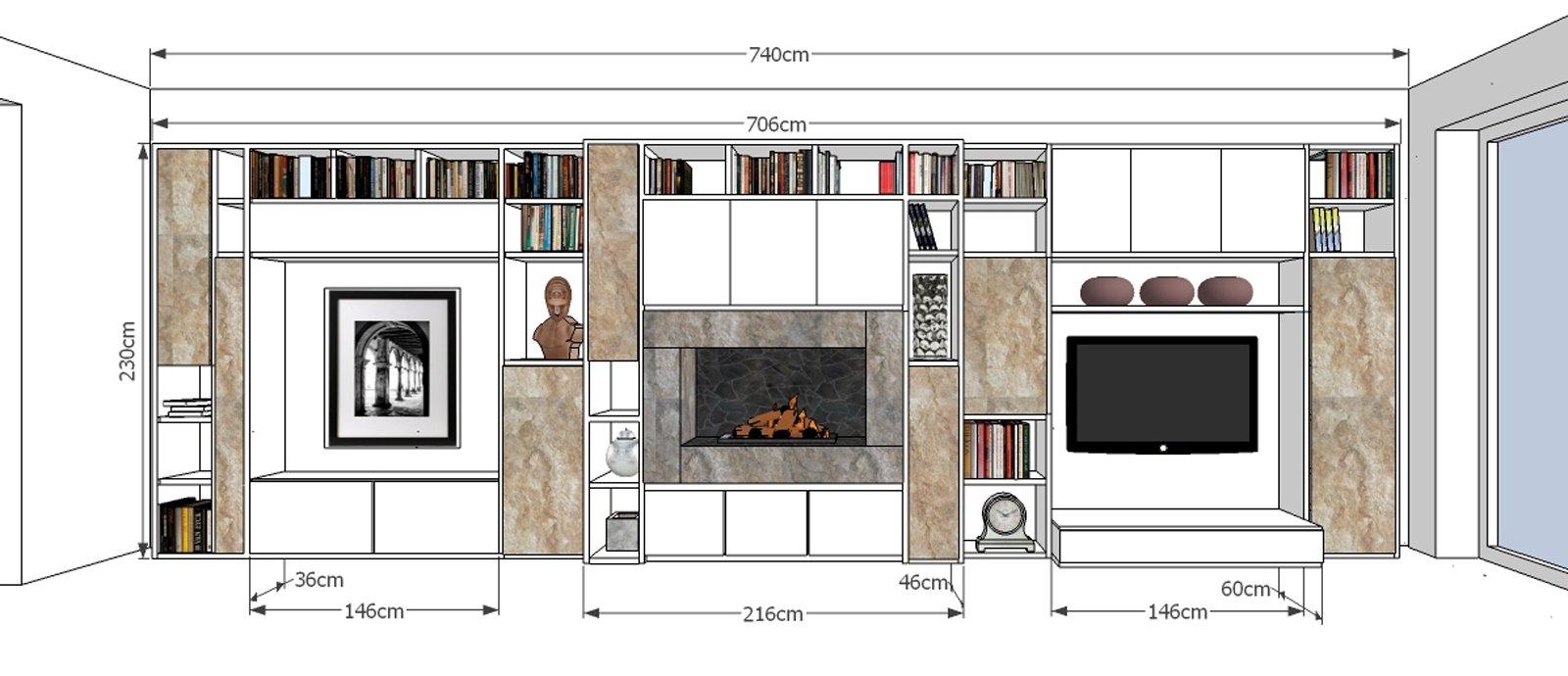 Parete attrezzata per il living cose di casa for Immagini parete attrezzata