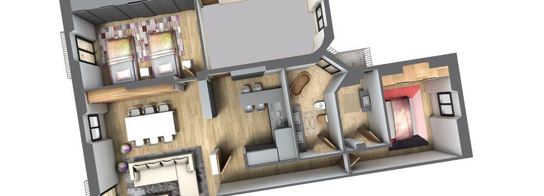 Spostare il secondo bagno un progetto in 3d cose di casa - Progetto bagno 3d gratis ...