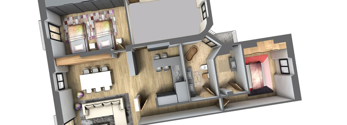 Spostare il secondo bagno. Un progetto in 3D - Cose di Casa