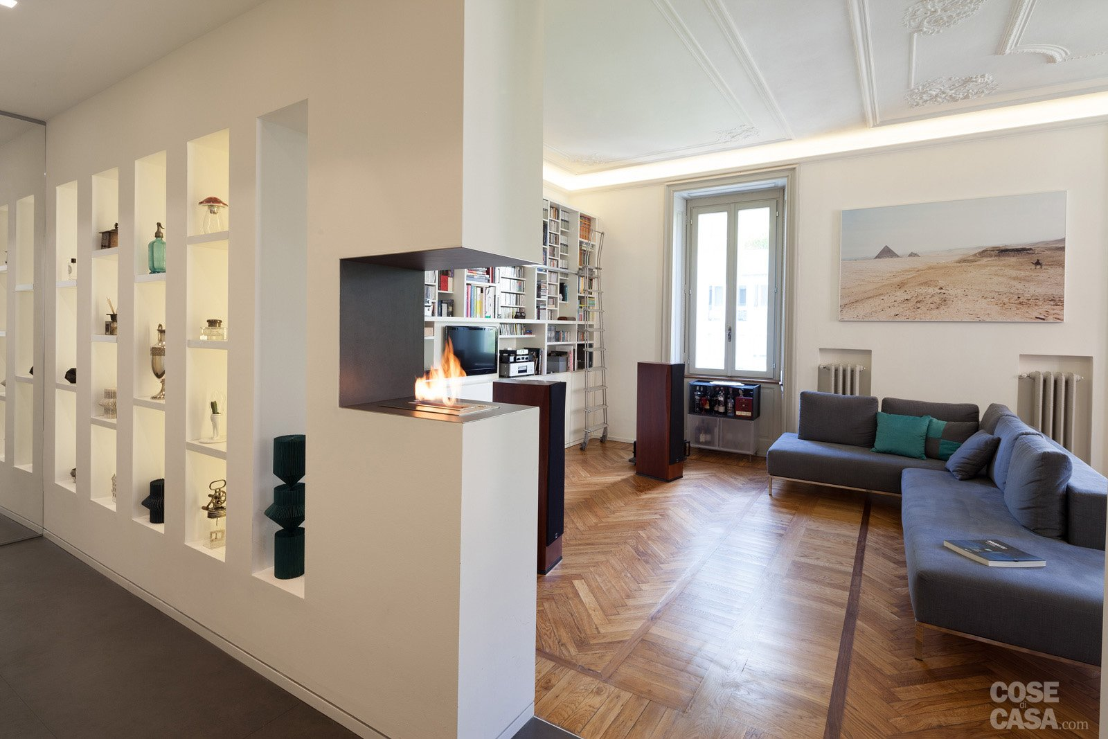 108 mq con nuove divisioni cose di casa for Disegni di casa piano aperto