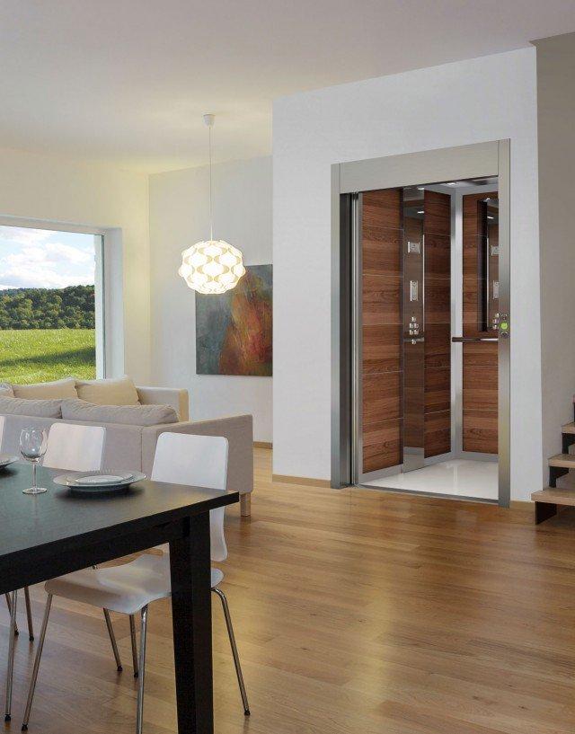 Mini ascensori e montascale in casa funzionali e di for Ascensore in casa