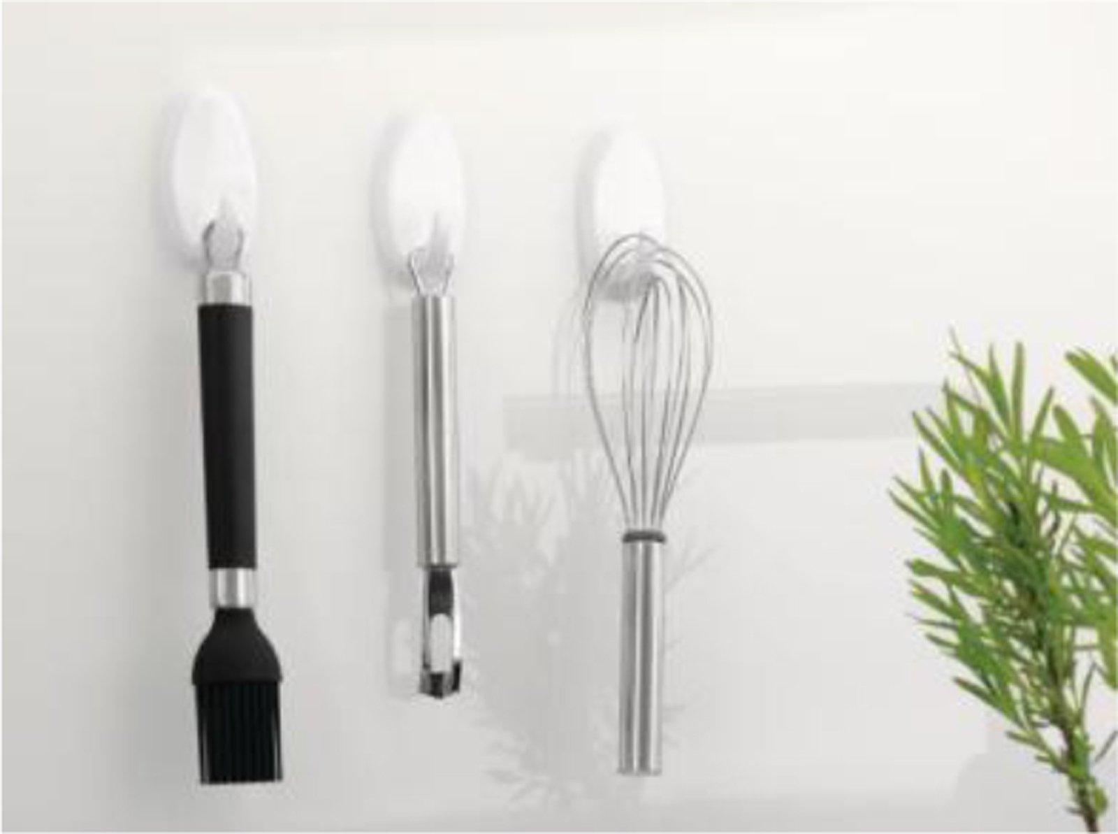 Appendere senza bucare il muro cose di casa for Appendi utensili da cucina