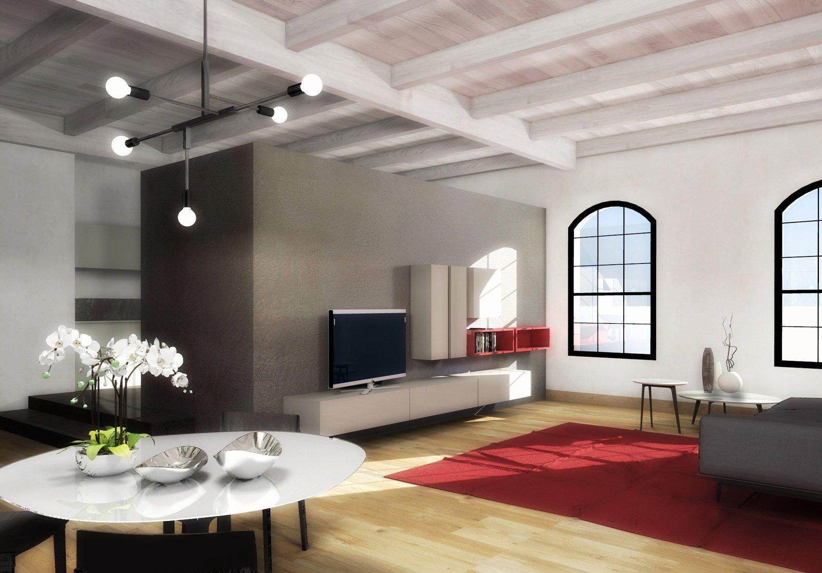 Open space il progetto d 39 arredo per un maxi monolocale for Progetto zona giorno