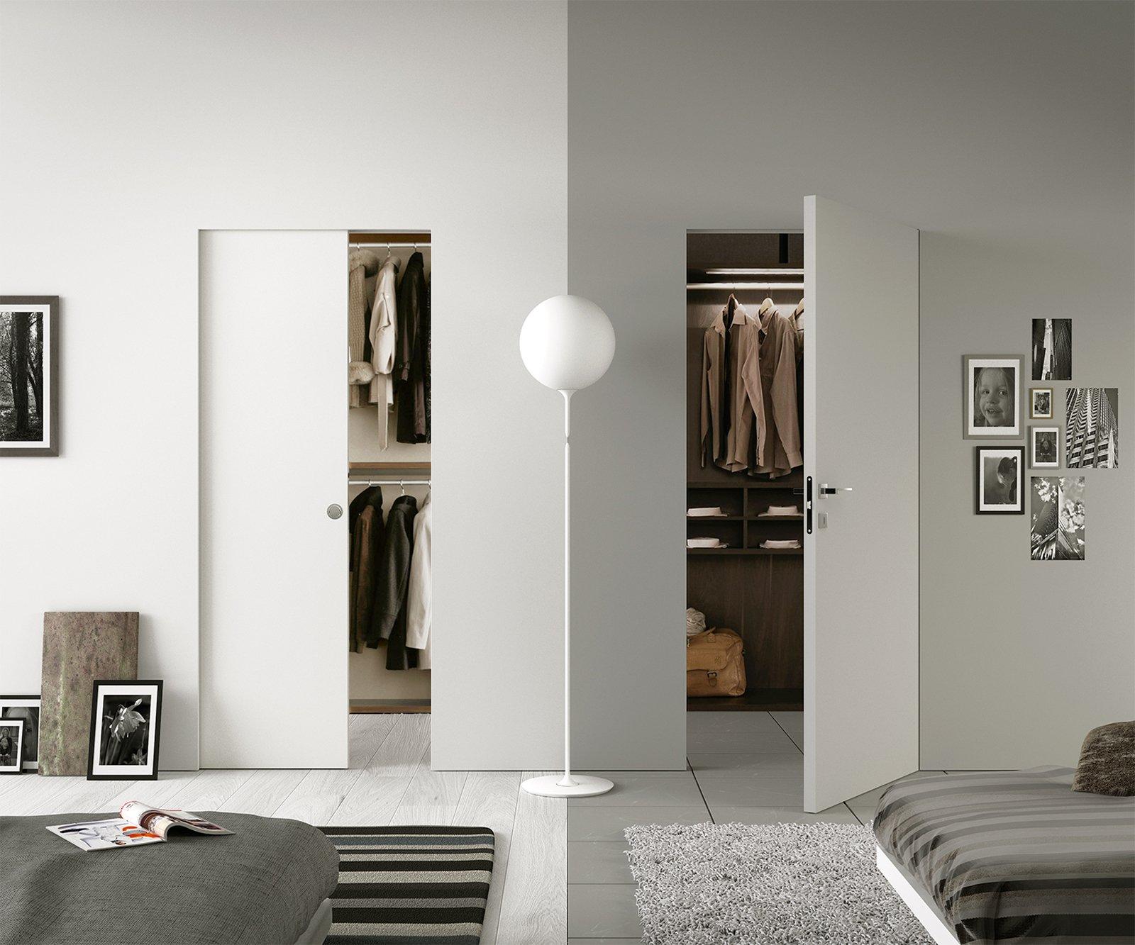 Sfruttare bene lo spazio con porte e contenitori a scomparsa cose di casa - Contenitori per cabina armadio ...