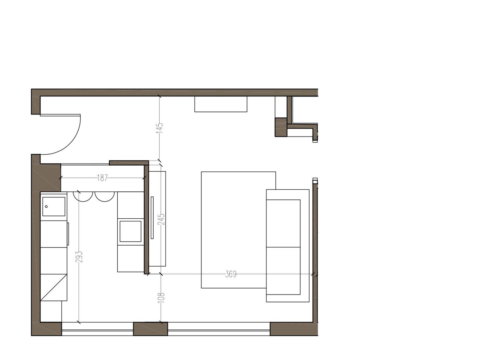 Arredamento cucine piccole un progetto per meno di 6 mq for Piccole planimetrie di casa di tronchi