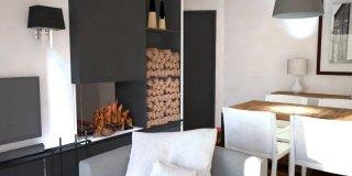 Come dividere cucina e soggiorno? Un progetto in 3D